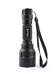 Lampes Torches LED / Lampes de poche LED 3 Mode 1000 Lumens Cree XM-L T6 18650 Uniquefire , Noir Alliage d'aluminium