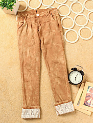 Lace Pockets Skinny Pants