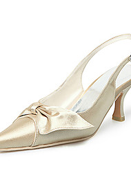 Top Quality Satin Upper High Heel Pumps With Bowknot Wedding Shoes/ Bridal Shoes