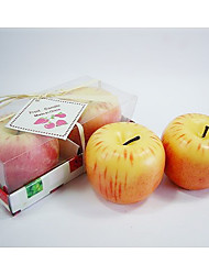 Apple Design Candle Favors(set of 2)