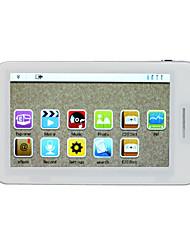 5 polegadas touchscreen mp4 player (4GB, branco / preto)