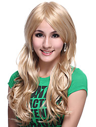 Capless Extra Long High Quality Synthetic Light Blonde Body Wavy Hair Wig