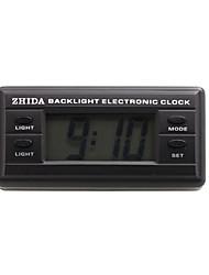 relógio eletrônico automotivo com luz de fundo azul - preto - zd-06b