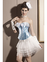Satin Strapless Front Busk Closure Corsets Special Occasion Shapewear Sexy Lingerie Shaper