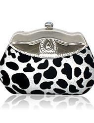 Velvet Shell With Rhinestone Evening Bag Handbag Purse Clutch
