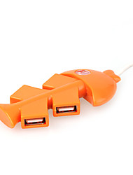 os de poisson de 4 ports USB 2.0 hub (orange)