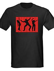 som e música activado el visualizador dançarina vu espectro liderada t-shirt (2 * AAA)