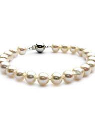 Exquisite Ladies' Pearl Strand Bracelet In Silver Alloy