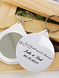 porta-chaves personalizado espelho - comer, beber e ser casado (conjunto de 12)