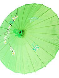 sombrinha de seda verde