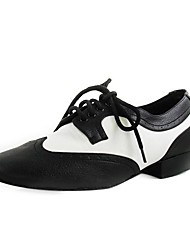 Real Leather Upper Dance Shoes Ballroom Modern Shoes for Men