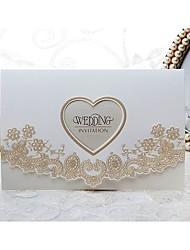 Não personalizado Tri-Dobrado Convites de casamento Cartões de convite-50 Peça/Conjunto Estilo Formal / Estilo Flôr / Estilo ModernoPapel