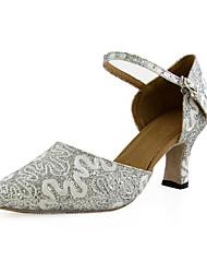 Sparkling Glitter Upper Dance Shoes Ballroom Latin/ Modern Shoes for Women More Colors