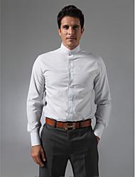 Mandarin Collar Plain Fly Front Shirt
