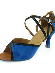Ткань верхней кожзаменителя с ремнем танцевать бальные туфли латинского обувь для женщин