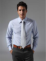 Laydown Collar Plain Fly Front Shirt