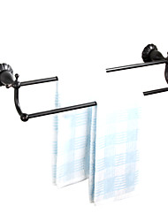 "Towel Bar Oil Rubbed Bronze Wall Mounted 600 x 140 x 100mm (23.6 x 5.51 x 3.93"") Brass Antique"