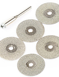 5 Pieces Set 20mm Mini Diamond Cutting Discs for DIY Silver Smithery and Crafts