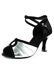 Satin/Leatherette Upper Women's Dance Shoes High Heel Ballroom Latin Shoes