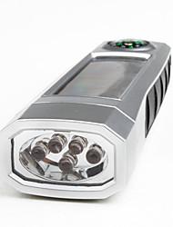 portable 1-Modus Aluminiumlegierung LED-Taschenlampe (100lm, Solar-, Silber)
