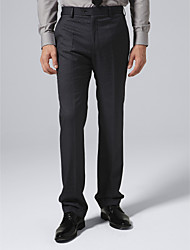 Black Check Suit Pants