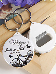 Personalized Bottle Opener / Key Ring - Bicycle and Butterfly (set of 12)