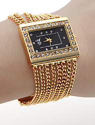 шт женское движение золотым поясом черные часы браслет циферблат с czechic украшения бриллиант