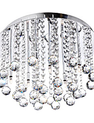 Modern Crystal Semi Flush Mount with 8 Lights (G4 Bulb Base)