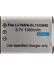 1300mAh batería de la cámara D-LI78 (EL11 60b) para Pentax Optio M50 y más