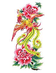 5 pcs Phoenix tatuagem temporária à prova de água (18,5 centímetros * 9cm)