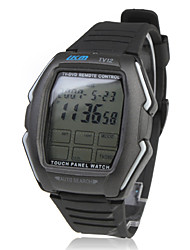 Touch Screen Remote Control Automatic Wrist Watch - Black