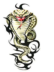 5 pcs cobra tatuagem temporária à prova d'água (6m * 6cm)
