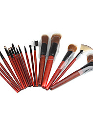 Professional Make-up Brushes Set with Leather Case (18-Piece Set)