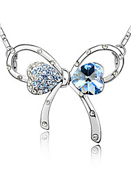 Crystal Romantic Bow Necklace