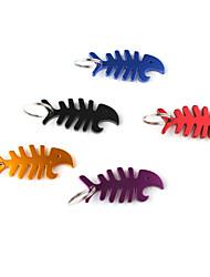 poissons osseux en forme de décapsuleur porte-clés (couleur aléatoire)