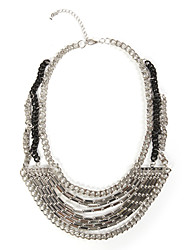 TS Alloy Multi Layered Bib Necklace