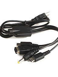 4-in-1 USB Charging Cable for Nintendo DS Lite, NDS, DSi, 3DS and PSP