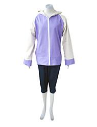 Inspiré par Naruto Hinata Hyuga Manga Costumes de Cosplay Costumes Cosplay Mosaïque Manches Longues Manteau Pantalon Pour Féminin