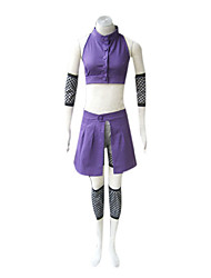 Inspired by Naruto Ino Yamanaka Anime Cosplay Costumes Cosplay Suits Patchwork Purple SleevelessVest / Shorts / Sleeves / Waist Accessory