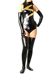 Shiny Zentai Suits Ninja Zentai Cosplay Costumes Black Solid Leotard/Onesie / Gloves / Stockings Spandex Female Halloween / Christmas