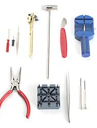 Conjunto de Ferramentas de Reparação de Relógios (16 pçs)