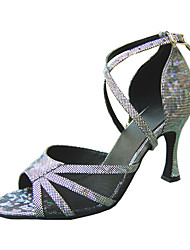 Customize Performance Dance Shoes Leatherette Upper Latin Shoes for Women