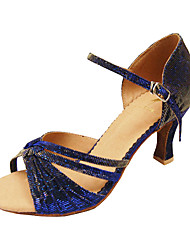 Customize Performance Dance Shoes Taffeta Upper Latin Shoes for Women