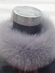 ts cinza pele de coelho no pescoço wrap (45cmx10cm) (mais cores)