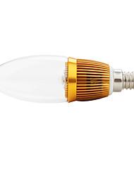e14 3w caldo bulbo bianco candela led (90-265V)