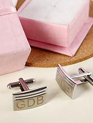 Gift Groomsman Personalized Rectangular Cufflinks