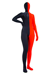 Red and Black Mixed Color Lycra Zentai
