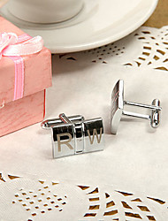 Gift Groomsman Personalized Double Block Cufflinks