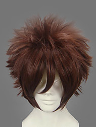 Cosplay Wigs Naruto Gaara Brown Short Anime Cosplay Wigs 30 CM Heat Resistant Fiber Male