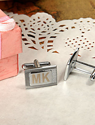 Gift Groomsman Personalized Stripe Cufflinks